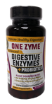 Premium Digestive Enzymes with Probiotics- 90 Capsules - 1zym1104